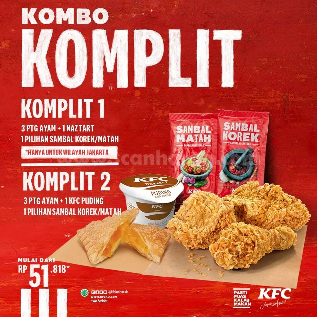Promo KFC KOMBO KOMPLIT harga mulai Rp. 51.818