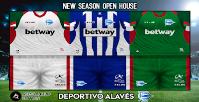 PES 6 Kit Deportivo Alavés Season 2018/2019 by Alessandro