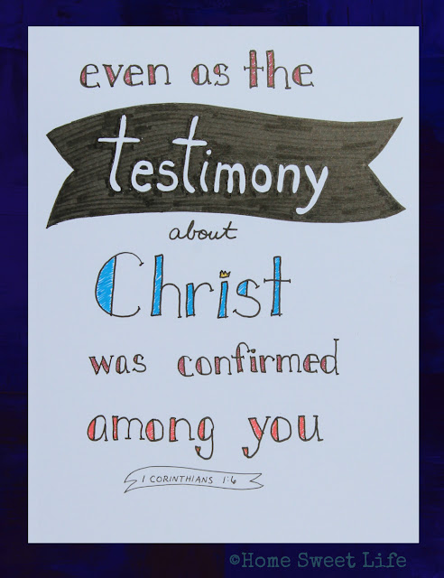 Scripture Writing, hand lettering, Bible memorization