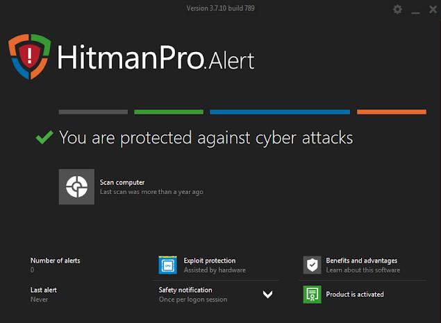 Screenshot HitmanPro.Alert 3.7.10 Build 789 Full Version