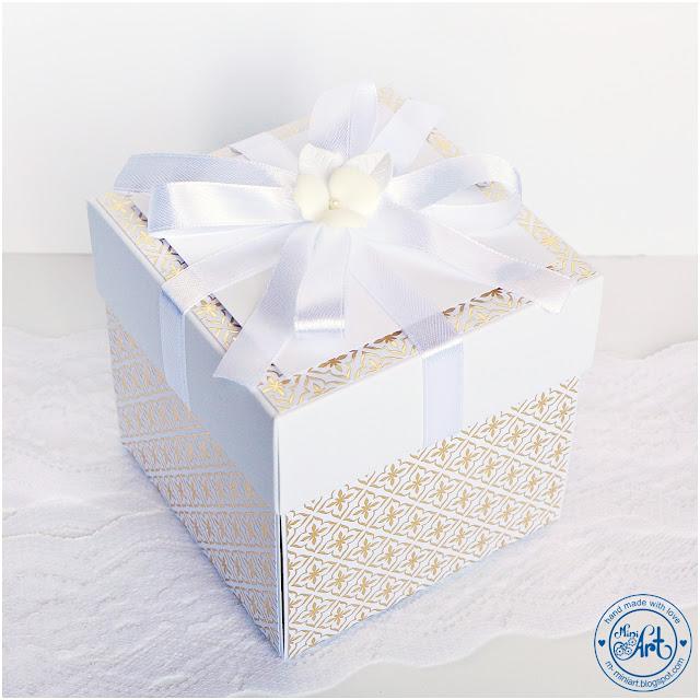 White & Gold – ślubny box / wedding box – DT Craft Passion