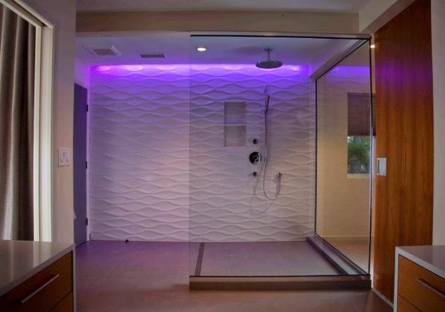 Hogares frescos 20 fascinantes ideas de dise o en duchas contempor neas que te llamar n la atenci n - Duchas pequenas ...