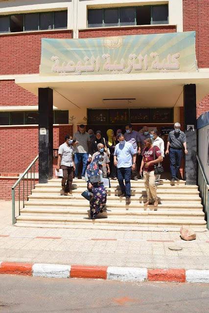رئيس جامعة سوهاج يتفقد مبني كلية التربية النوعية استعداداََ لزيارة لجنة الأعلى للجامعات
