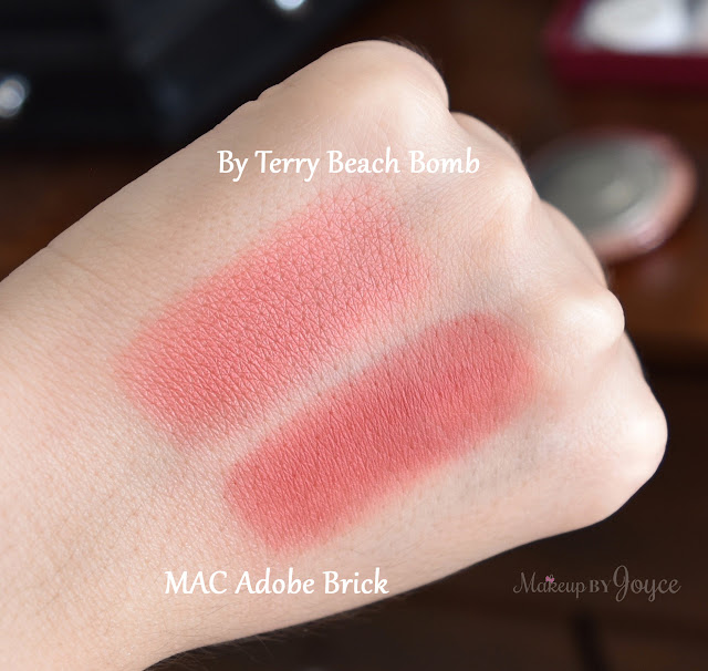 MAC Adobe Brick Blush Dupe Swatches By Terry Beach Bomb