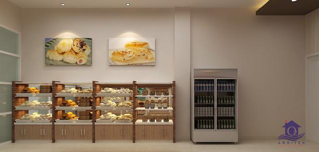 Desain Interior Roti Ganep's di Kartasura