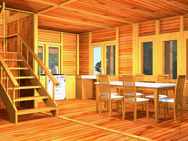 gambar interior desain rumah kayu - desain gambar ...