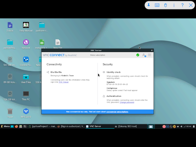 RealVNC viewer on ipad - Viewing my laptop