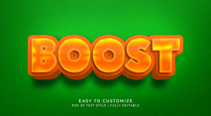 Boost 3D Text Effect Generatora And Text Style Effect