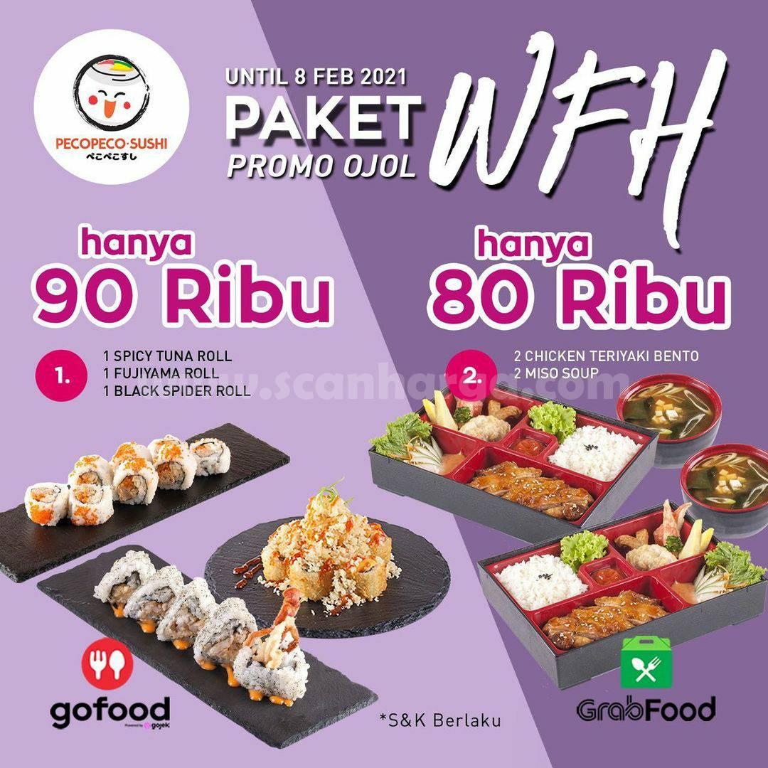 PECO PECO SUSHI Promo Ojol PAKET WFH Harga hanya Rp 80.000