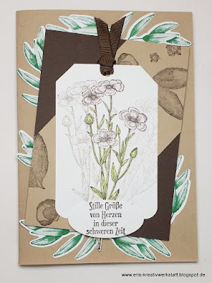 Beileidskarte mit Blumen vom Stimdu Stampin' Up! www.eris-kreativwerkstatt.blogspot.de