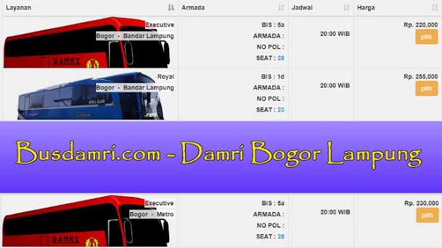 Damri Bogor Lampung: Harga Tiket, Alamat & Cara Belinya