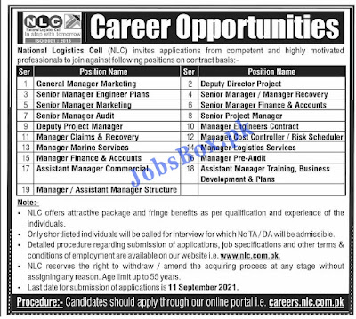 Latest Govt Jobs in NLC National Logistic Cell