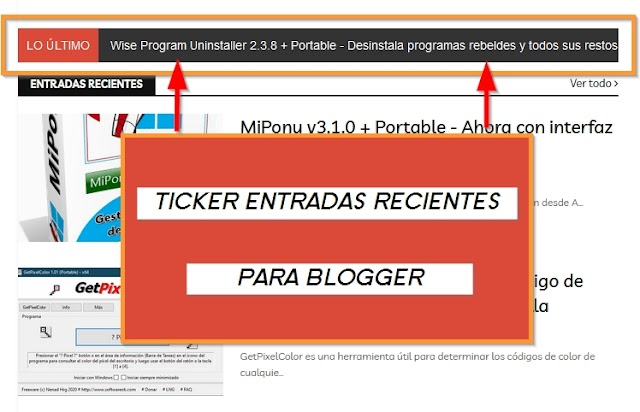 Ticker de entradas recientes para Blogger