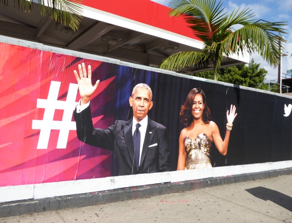 President Michelle Obama Twitter street poster
