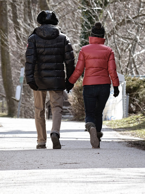 couple walking in winter | Almost Posh