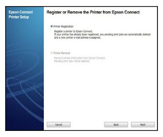 Epson Connect Printer Setup Utility Printer Register