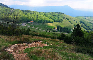 The start place of the Monte Baldo trail from Ferrara, in summer.