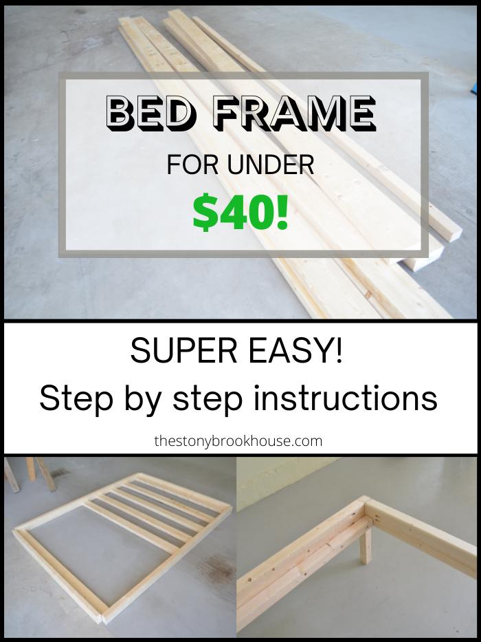 Easy Bed Frame for Under $40!