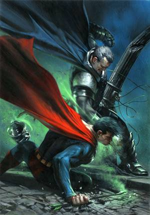 Enfrentamiento homenaje a The Dark Knight Returns