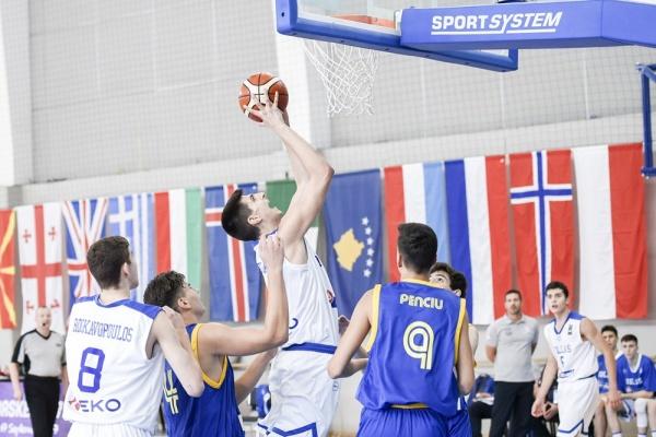 Ευρωπαϊκό Παίδων U16: Ελλάδα-Ρουμανία 111-60