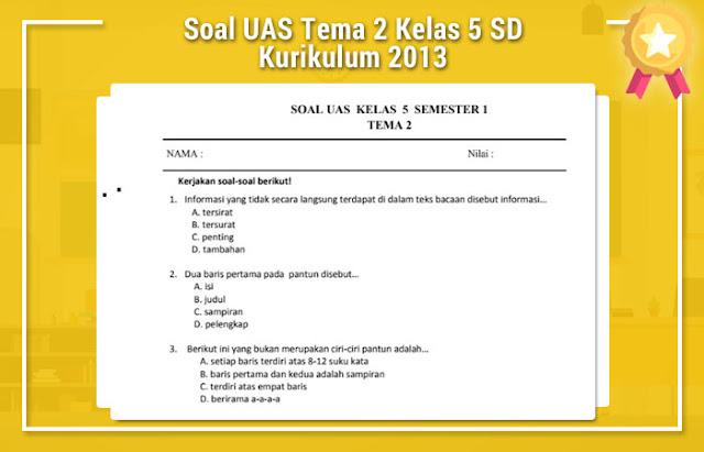 Soal UAS Tema 2 Kelas 5 SD Kurikulum 2013