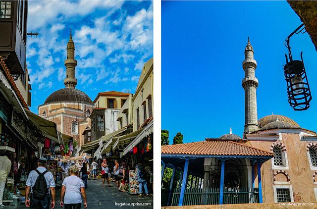 A Mesquita de Suleiman, em Rodes, Grécia