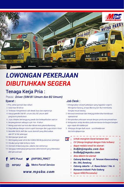 Lowongan Kerja Metro Parcel Services