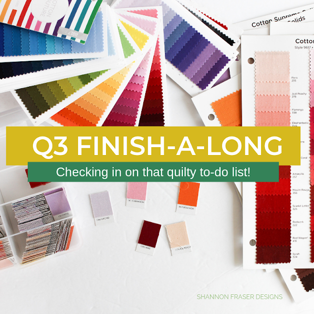 Q3 Finish-a-Long 2019 | Checking in on that quilty to-do list | Shannon Fraser Designs #quiltsinprogress #wip