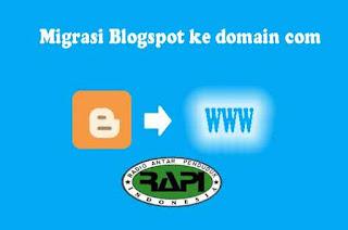 Migrasi Blogspot ke domain com