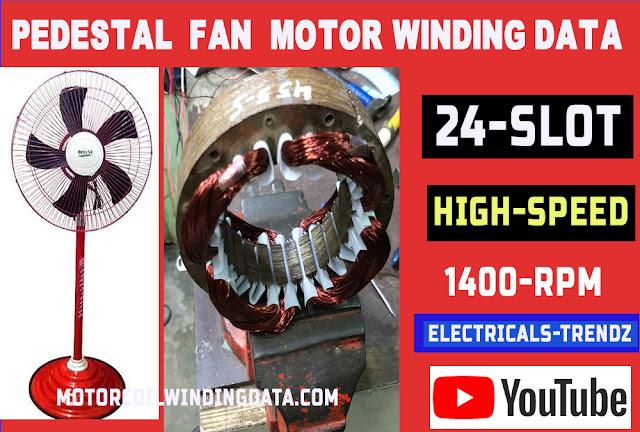 Pedestal fan motor winding data in Hindi  motor coil turn data