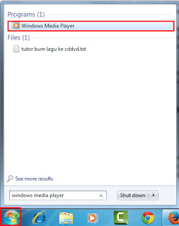 Cara Burning Lagu ke CD dan DVD Dengan Windows Media Player