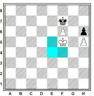 Triangulación del rey en los finales de ajedrez