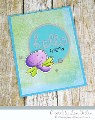Hello Friend card-designed by Lori Tecler/Inking Aloud-stamps and dies from Paper Smooches