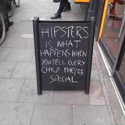 Funny Hipsters Sign Picture