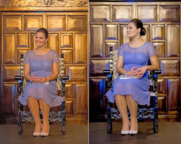 Crown Princess Victoria of Sweden and Prince Daniel of Sweden attended a reception hosted by the Mayor of Cartagena Dionisio Vélez