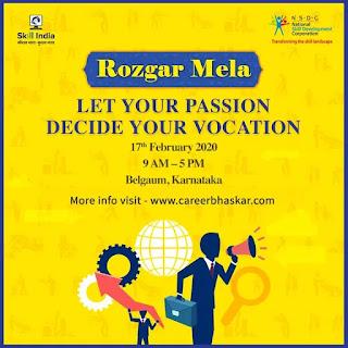 Rojgar Mela, Belagam | Karnataka | 17th of Feb |