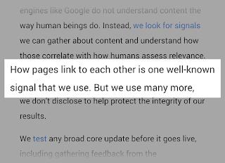 Google menggunakan sinyal Off-Page SEO salah satunya