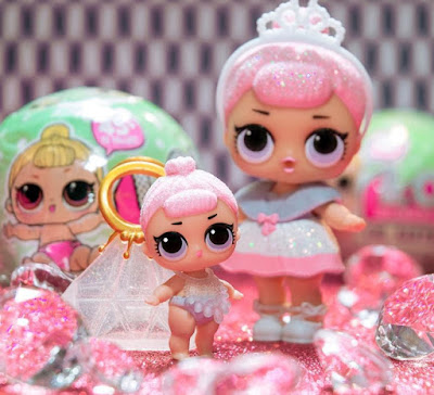 LOL Surprise ultra rare dolls Crystal Queen big and lil sisters set
