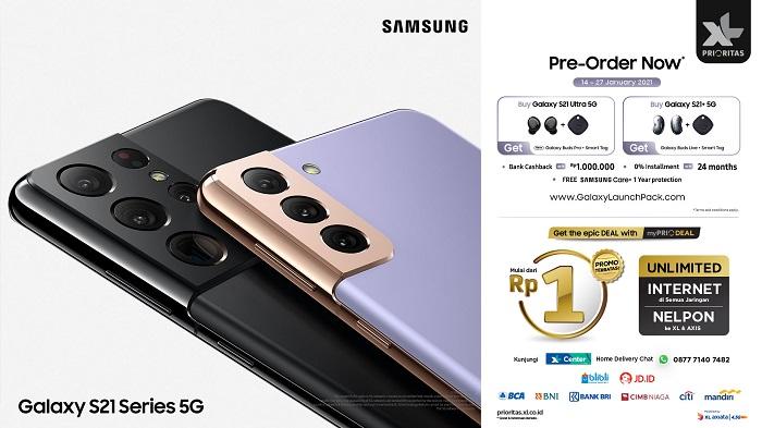 Cukup Rp1 Pelanggan XL Bisa Bawa Pulang Samsung S21 Series