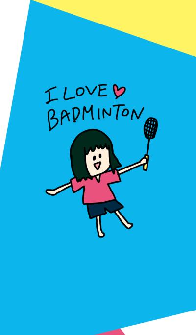 love badminton theme