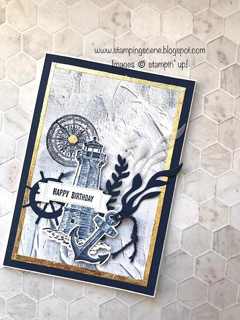 nautical masculine birthday card using Sailing Home stamp set