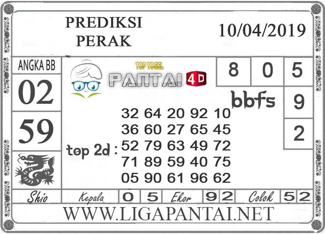 """Prediksi Togel """"PERAK"""" PANTAI4D 10 APRIL 2019"""
