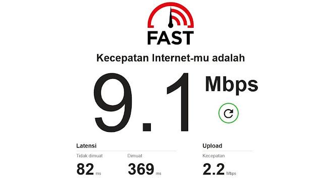 Cara Mengecek Kecepatan Internet dengan Fast.com