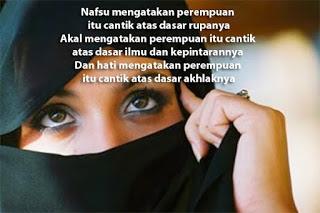 Jadilah Wanita Yang tercantik di Dunia