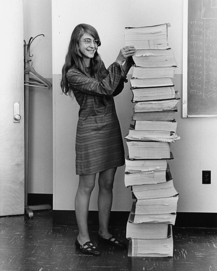 #12 Margaret Hamilton And The Handwritten Navigation Software She And Her Mit Team Produced For The Apollo Project, 1969