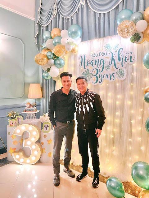 Việt Anh và vợ cũ Hương Trần hội ngộ trong dịp sinh nhật con trai