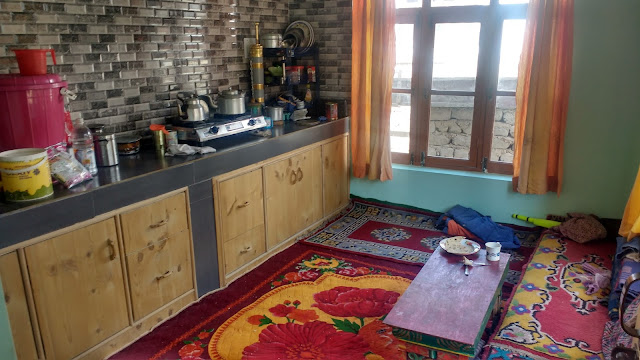 Local Tradional Ladakhi Kitchen in Leh Ladakh