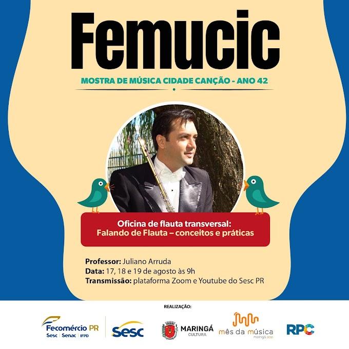 Inscrições abertas para oficinas de música do Femucic