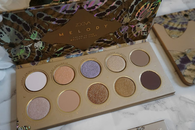 THE MELODY COLLECTION PALETTE BY ZOEVA - REVIEW , SWATCHES AND FINAL LOOK