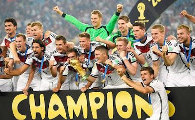 Jerman memenangkan trofi Piala Dunia Kelima tahun 2014